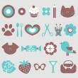 A set of cute elements for design — Stock Vector