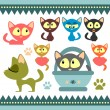 A set of cute baby kittens — Stock Vector #12060710