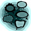 Royalty-Free Stock Vector Image: A set of cute speech bubbles
