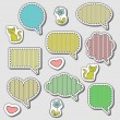 Cute speech bubbles set — Stock Vector