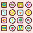 A set of pretty stamps — Stock Vector #12060760