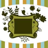 Floral decorative frame — Stock Vector