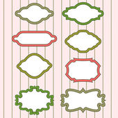 A set of pretty frames — Cтоковый вектор