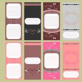Beautiful cards set — Stock Vector