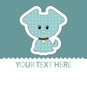 Cute little puppy card — Stock Vector