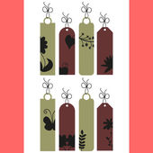 A set of decorative tags — Stock Vector