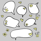 A set of cute speech bubbles — Stock Vector