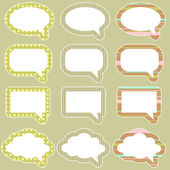 A set of cute speech bubbles — Stock Vector