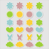 Cute babyish stickers set — Stock Vector