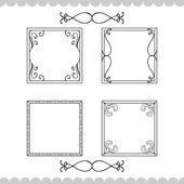 Vintage calligraphic frames — Vettoriale Stock