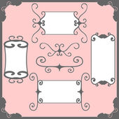 Vintage calligraphic frames — Stock Vector