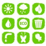grüne ökologische Icons set — Stockvektor