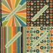 Set of four vector retro backgrounds — Stock Vector
