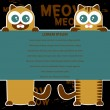 Vector card design with two cats and place for your text — Stock Vector #12208371