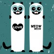 Vector love card with two cute siamese cats — Grafika wektorowa