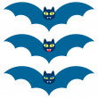 Stock Vector: Vector set three cute bats