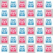 Seamless vector background with cute kittens — Stock Vector