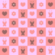 Royalty-Free Stock Vector Image: Cute pink feminine seamless pattern