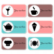 Set of beautiful banners for cafe or restaurant — Stock Vector