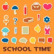 Cute childish stickers school elements — Stock Vector #12382526