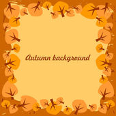 Vector autumn background with leaves — Stock Vector