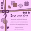 Cute romantic card template - Imagen vectorial