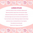 Pink feminine background template — Vettoriali Stock