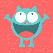 Funny cat being happy — Stock Vector