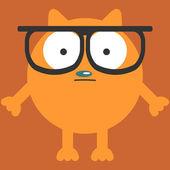 śmieszny kot w okularach — Wektor stockowy