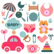Set of design elements for babies — Stock Vector