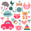 Stock Vector: Set of design elements for babies
