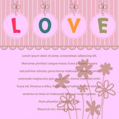 Love card design template — Stock Vector