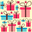 Seamless pattern with gift boxes — Stock Vector #13285750
