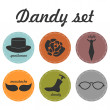Stock Vector: Set of dandy icons
