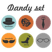 Set of dandy icons — Stock Vector