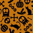 Funny seamless pattern for halloween - Stock Vector