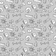 Royalty-Free Stock Vector Image: Childish seamless pattern school theme