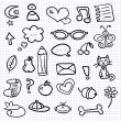 Hand drawn various elements set - Stockvectorbeeld
