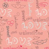 Valentine seamless pattern — Vetorial Stock