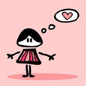 爱的女孩 — 图库矢量图片
