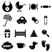 Babyish icons set — Stock Vector
