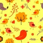 Seamless background autumn theme — Stock Vector