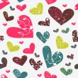 Seamless pattern with hearts — Stock Vector #13722612