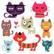 Various funny cats set — Stock Vector #13722690