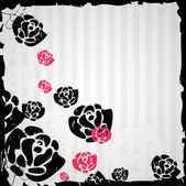 Beautiful background with roses — Stock Vector