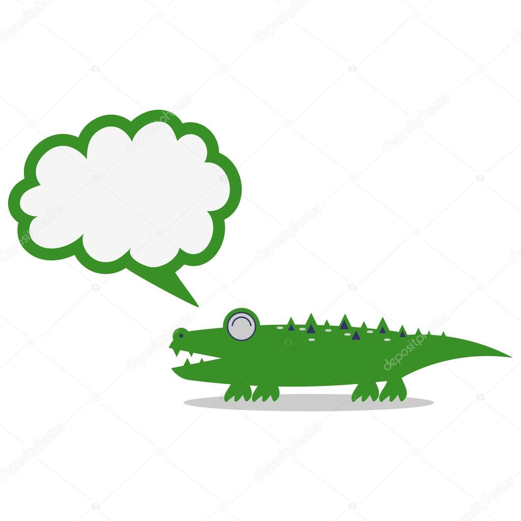 Cute crocodile — Stock Vector © littlepaw #13722607