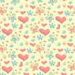 Cute seamless background — Imagen vectorial