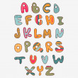 Cute funny childish alphabet — Stock Vector #14133221