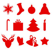 Set of Christmas icons — Stockvektor