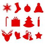 Set of Christmas icons — Stock Vector #14667665